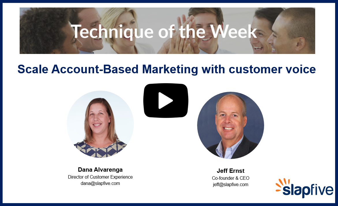 Scale Account Based Marketing with Customer Voice